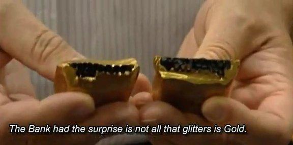 Weißgold barren  Goldfälschungen - Fake gold